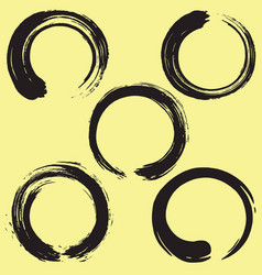 enso zen circle brush set vector image