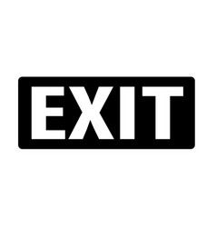exit icon on white background exit sign flat vector image