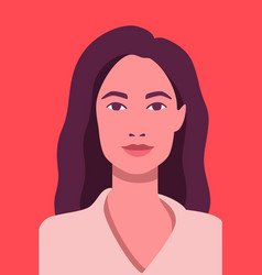 face avatar beautiful woman on red vector image
