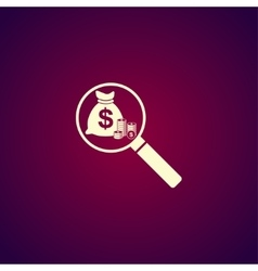 Finance analysis icon vector