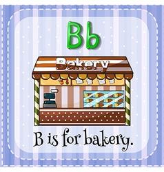 Flashcard B is for bakery vector