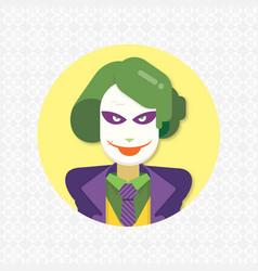 Flat joker icon image vector