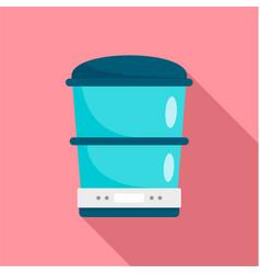Food processor machine icon flat style vector