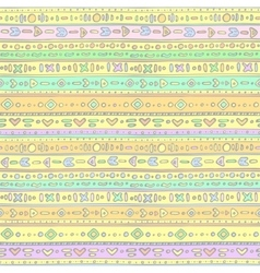 Gentle ethno background vector image