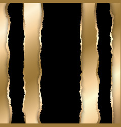 gold and black torn paper template background vector image