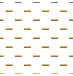 Gold rectangular button pattern vector