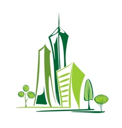 green city - environment and ecology vector image