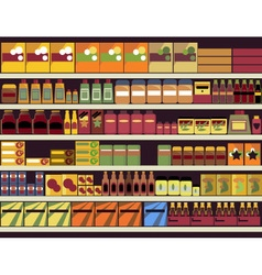 Grocery store background vector