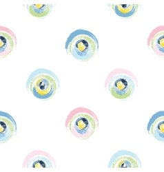 Grunge multicolored circles on white background vector