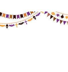 halloween garland background 31st october vector image