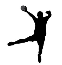handball player vector image