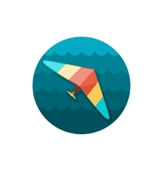 Hang Glider icon Summer Vacation vector image