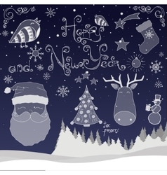 Happy New Year set vector image