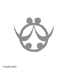 Icon with adinkra symbol ti koro nko vector