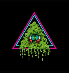 illuminati bleeding vector image