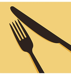 Knife and fork vector image