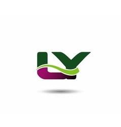 Letter L and Y monogram logo vector image