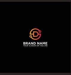 Letter sd logo design vector