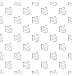 love letter pattern seamless vector image