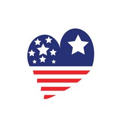 love usa icon design template isolated vector image