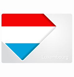 Luxembourg flag design background vector