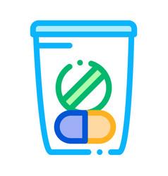Medicine bag supplements icon vector