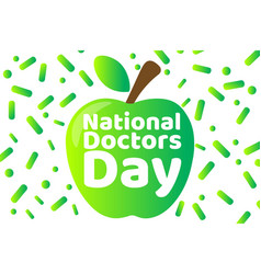 National doctors day concept template vector