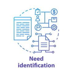 Need identification concept icon market vector