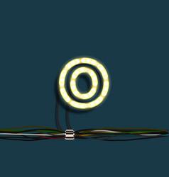 neon garland letter vector image