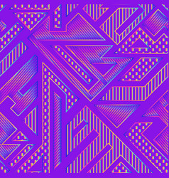 neon geometric pattern vector image