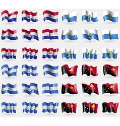 Paraguay San Marino Nicaragua Papua New Guinea Set vector
