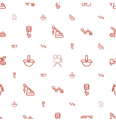 Production icons pattern seamless white background vector