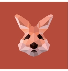 Rabbit Easter polygons in shades pink vector image