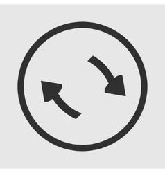 Refresh icon arrows1 vector image