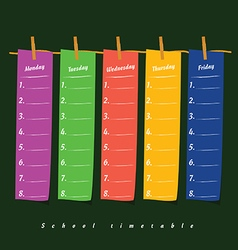 school timetable on clothespin icon illstration on vector image vector image