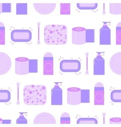 Seamless pattern with feminine hygiene products vector