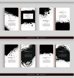 set business card templates vector image