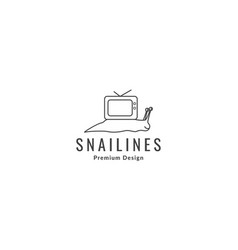 Snail with television logo symbol icon graphic vector