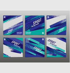 sport banner social media abstract background vector image