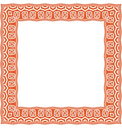 Square frame with ethnic ornament vector