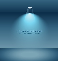 Studio background with light vector