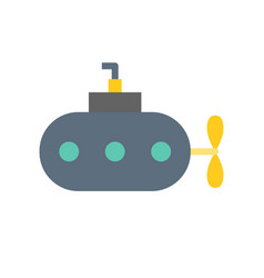 Submarine icon flat design about nautical vector