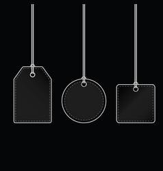 tag blank design on black background vector image