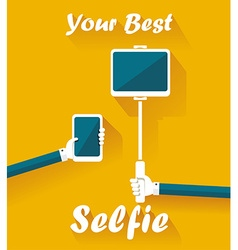 Taking Selfie Photo on Smart Phone and Tablet PC vector