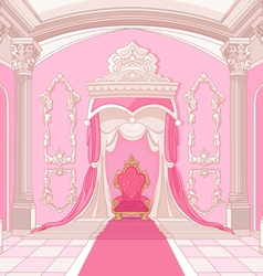 Throne room of magic castle vector image