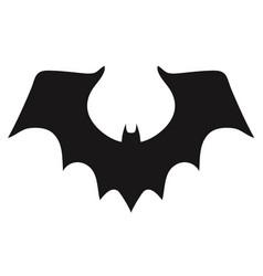 vampire bat silhouette halloween bats decoration vector image