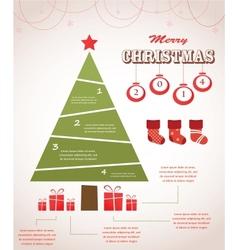 christmas infographic icon set vector image