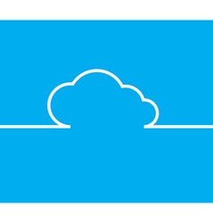 cloud with white lines and arrows with the same vector image