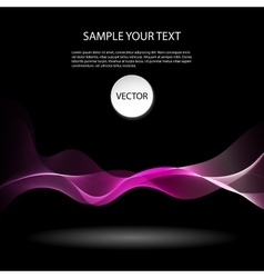 Colorful abstract waves on black background vector image vector image