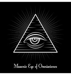 Omniscience All seeing eye symbol vector image